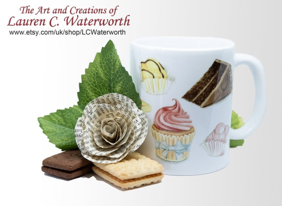 Cakes Mug Gift For Cake Lover Food Cupcake