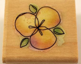 Inkadinkado Flower Petals Contemporary Sketch Wooden Rubber Stamp