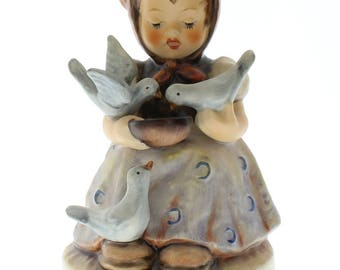 Vintage Goebel Hummel Figurine Cinderella Feeding the Birds 337
