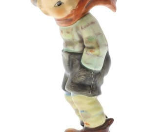 Hummel Goebel Figurine March Winds 43 Little Boy with a scarf blowing