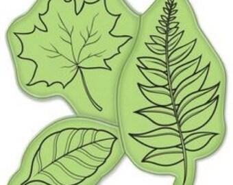 Inkadinkado Tree Leaves Fall Autumn Oak Fern Cling Rubber Stamp