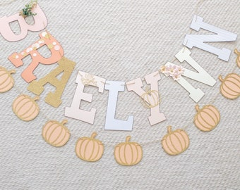 Little Pumpkin Paper Banner