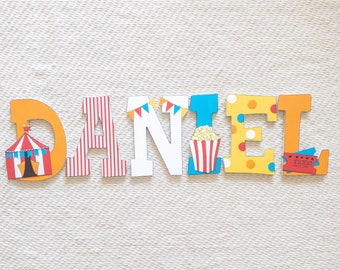 Circus Carnival Big Top Wood Letters