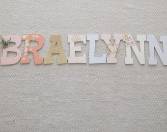 Little Pumpkin Custom Wood Letters
