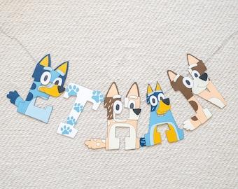 Bluey Custom Name Banner