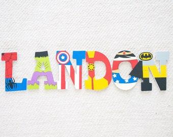 Superhero Avengers Marvel Custom Wood Letters