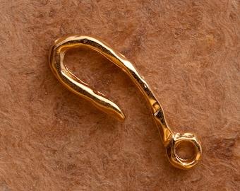 B34vm 18kt Gold Vermeil Hook