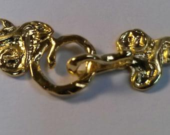 B105-6vm 18kt Gold Vermeil Swirl Hook & Eye