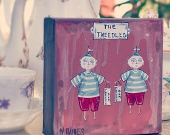 The Tweedles (mini canvas)