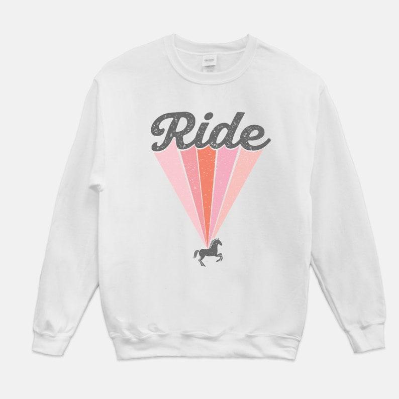 Retro Ride Horse Equestrian Sweatshirt