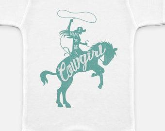 Baby Cowgirl Pony Horse Onesie