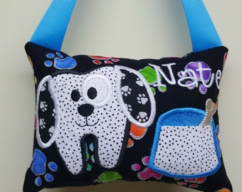 Boys Puppy Tooth Fairy Pillow Personalized
