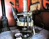 Antique barbers chair Photo by Vickie Hanson