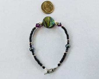 Abalone shell bracelet #3