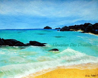 Kua Bay ORIGINAL painting by Vickie Peters