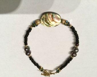 Abalone shell bracelet #1