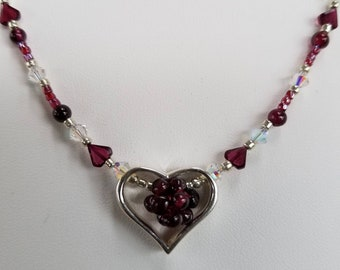 Garnet Love necklace