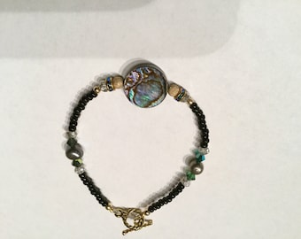 Abalone shell bracelet #5