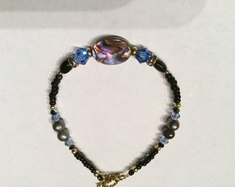 Abalone shell bracelet #4