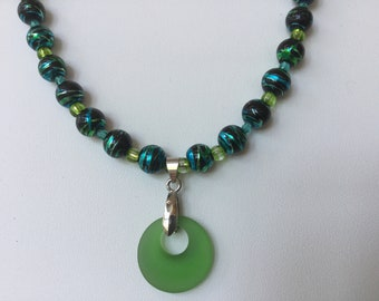 Beach glass fun necklace