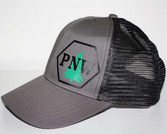 PNW Tree Trucker Hat FREE SHIPPING Pacific Northwest Pride  da50595db97a