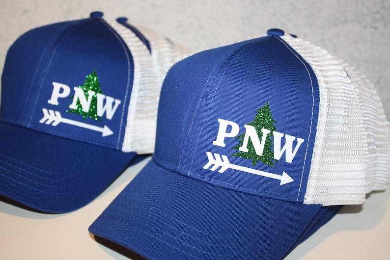 PNW Tree Arrow Trucker Hat FREE SHIPPING Sparkly  7ef514ca4f28