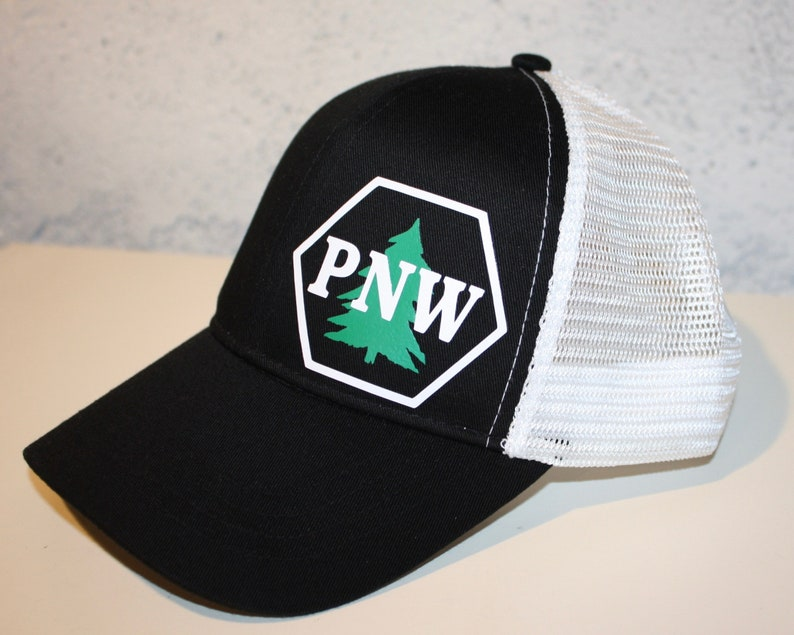 PNW Trucker Hat  Pacific Northwest Pride  PNW Hex/Tree  image 1