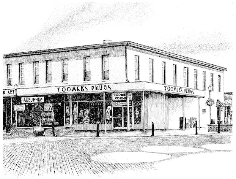 Toomer's Corner, Auburn University, Auburn Alabama, Digital Download