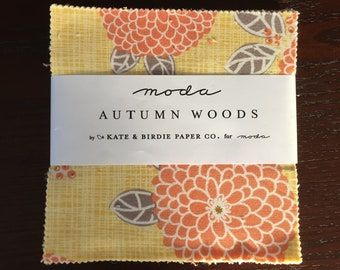Autumn Woods Charm Pack - Kate & Birdie Fabric