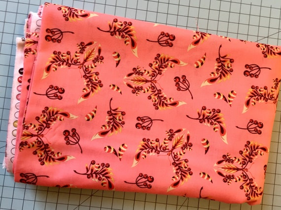 Tula Pink Acacia Butterfly Wings in Pink colorway Yardage