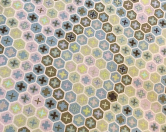 Tula Pink Salt Water Tortoise Shell in Seaweed colorway Yardage