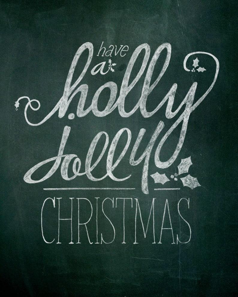 Christmas Printable Chalk Art  1 8x10 typography design // image 0