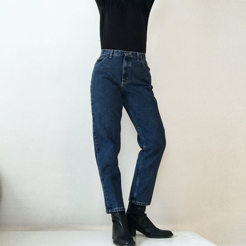 e42f166e High Rise Jeans 80s Vintage Mom Jeans 28 Waist 12 Large High   Etsy
