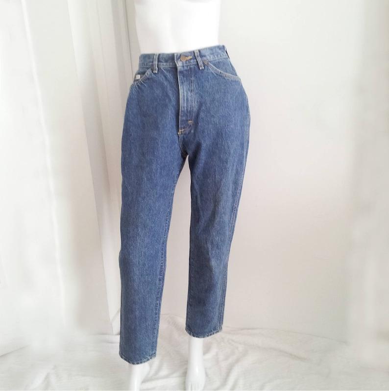 ff4d21de High Waisted Lee Jeans 80s Vintage Mom Jeans 25 Waist Denim | Etsy