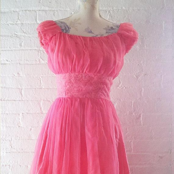 1950s Prom Dress 50s Formal Dress Vintage Prom Dr… - image 1