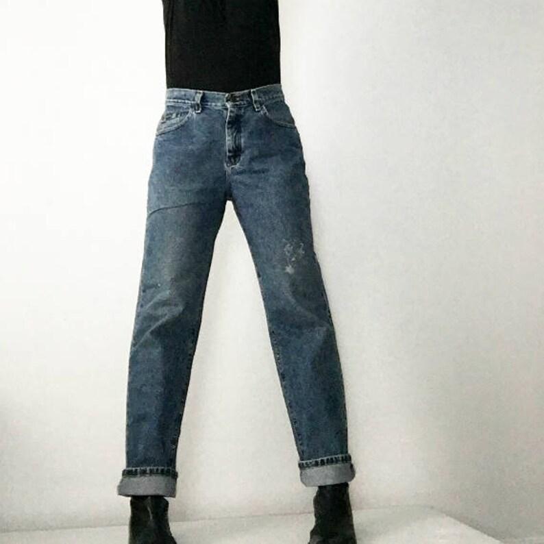 efac6e6e High Waist Straight Jeans 80s Vintage 30 Waist Large Lee   Etsy