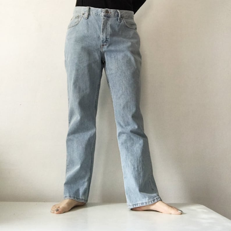 553a0750 Lee Jeans 90s Vintage Mid Rise High Waisted Faded Straight Leg   Etsy