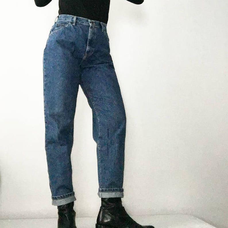870e517b High Waist Jeans 80s Vintage Lee Mom Jeans 28 Waist 10 Large   Etsy