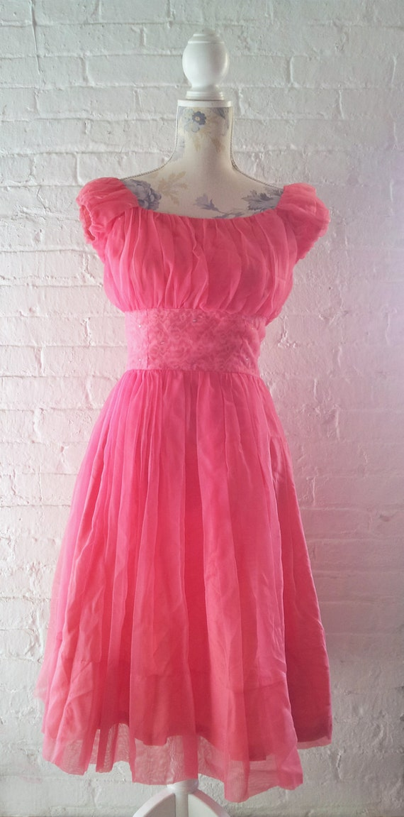 1950s Prom Dress 50s Formal Dress Vintage Prom Dr… - image 2