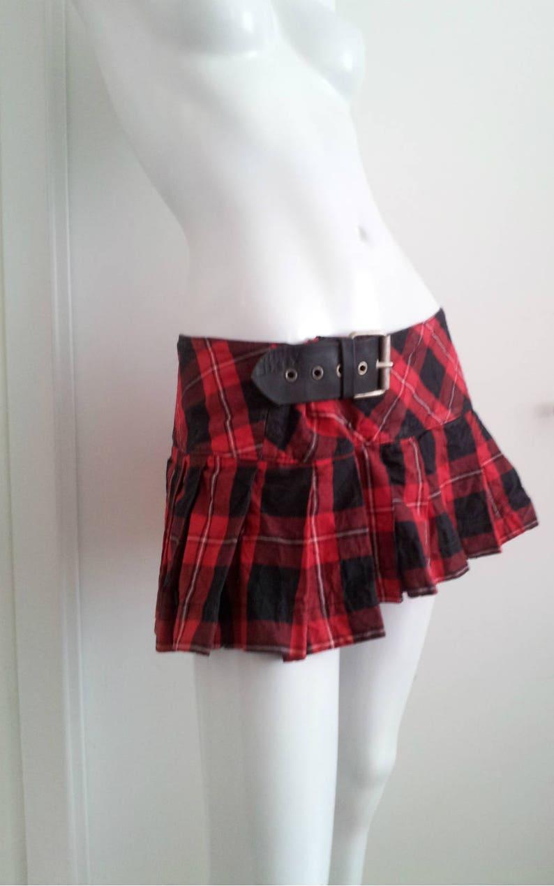 18840b233b6d8a Red Plaid Mini Skirt 90s Vintage Miss Sixty Large Punk Rock | Etsy