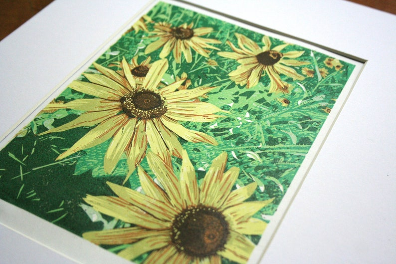 Grace and Grit Wildflowers in Bloom Hand Printed Limited image 1