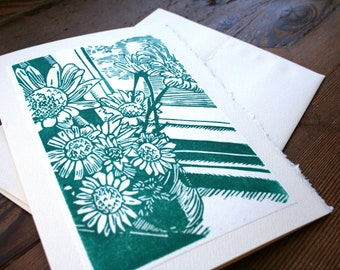 A Posy- Hand Printed Blank Card