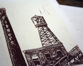 Fitgers Brewhouse- Duluth, MN- Hand Printed Blank Card
