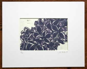 Purple Lilacs- Limited edition, hand pulled