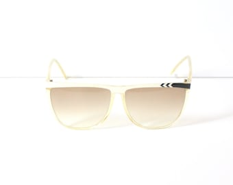 4ace3b6e684 Vintage white retro sunglasses    large oversized sunglasses    tinted  sunglasses    hipster glasses    faded tinted sunglasses    summer