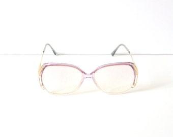 b7c705736b8 Vintage retro clear pink gold glasses    vintage reading glasses    hipster  clear glasses    light pink frame glasses    summer pink frames