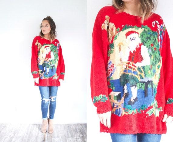 Ugly Christmas sweater // tacky Christmas top // r
