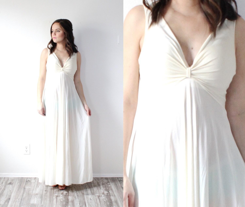 Vintage Wedding Dress Slip Cream Wedding Slip Dress Maxi Etsy