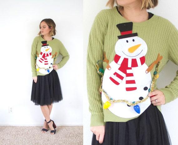 LIGHT UP Christmas sweater // ugly Christmas sweat