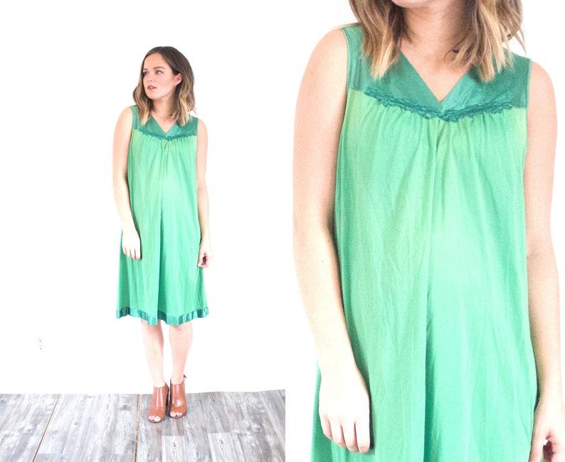 815c7d3f2162 Green night gown dress    mini dress    bright green nighty